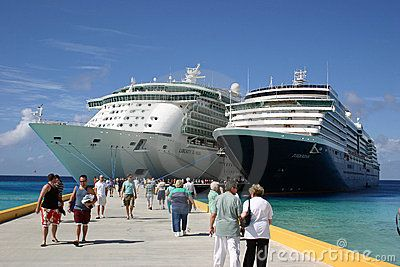 The Liberty of the Seas and The Zuiderdam by Christopher Bradshaw, via Dreamstime