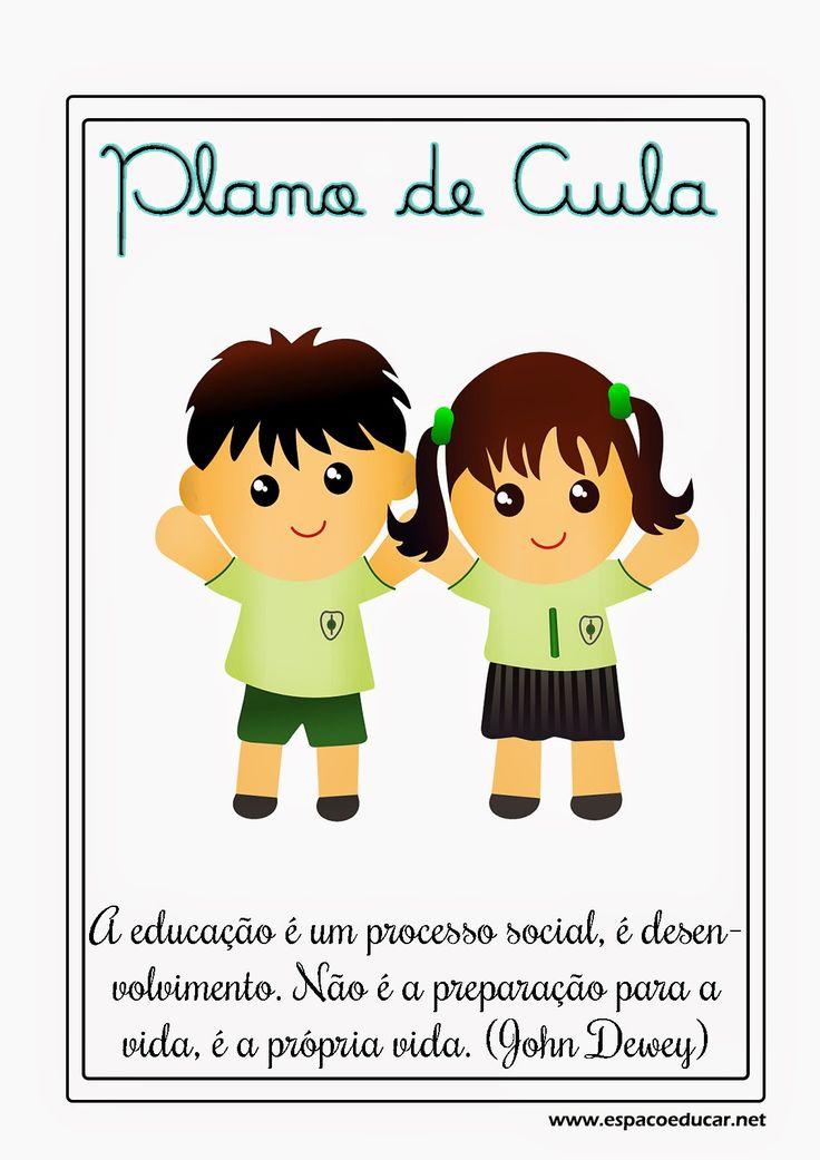 Capas para Plano de Aula com frases sobre educação prontas para imprimr - ESPAÇO EDUCAR