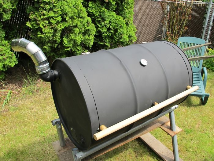 grill out of a barrel with your hands