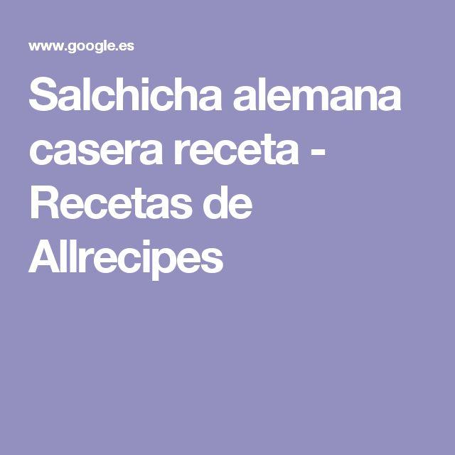 Salchicha alemana casera receta - Recetas de Allrecipes