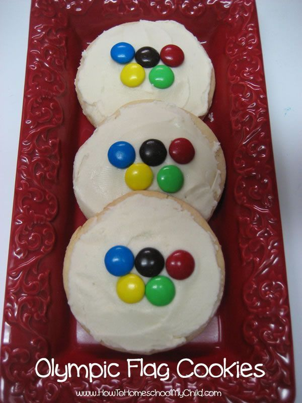 Olympic flag cookies | HowToHomeschoolMy...