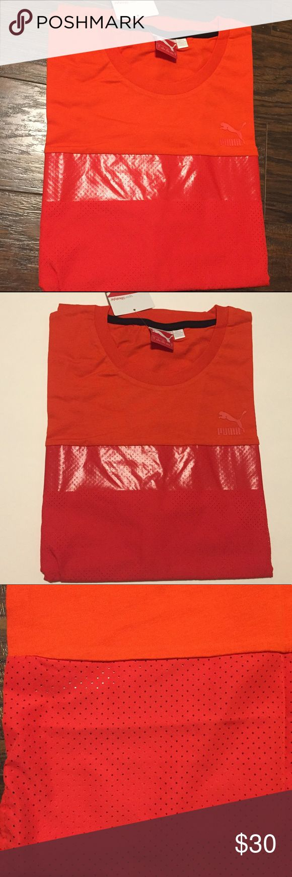 Men's Puma shirt Men's Puma fiery red shirt , great material , size: large, brand new with tags, and in package Puma Shirts Tees - Short Sleeve