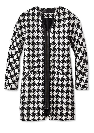 Shop 17 Black-and-White Pieces - Zara Coat from #InStyle