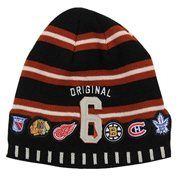 Old Time Hockey Original Six Signer Knit Beanie - Black