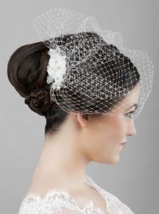 Evie Ivory Birdcage Veil Bridal Fascinator Wedding Veiled