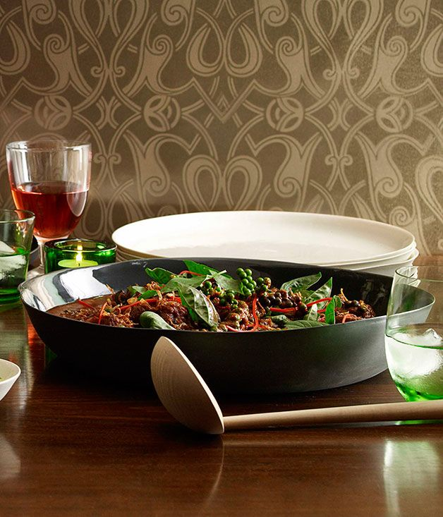 Martin Boetz: Red curry of beef with green peppercorns, wild ginger and holy basil