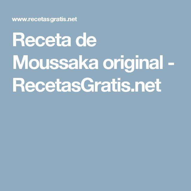 Receta de Moussaka original - RecetasGratis.net