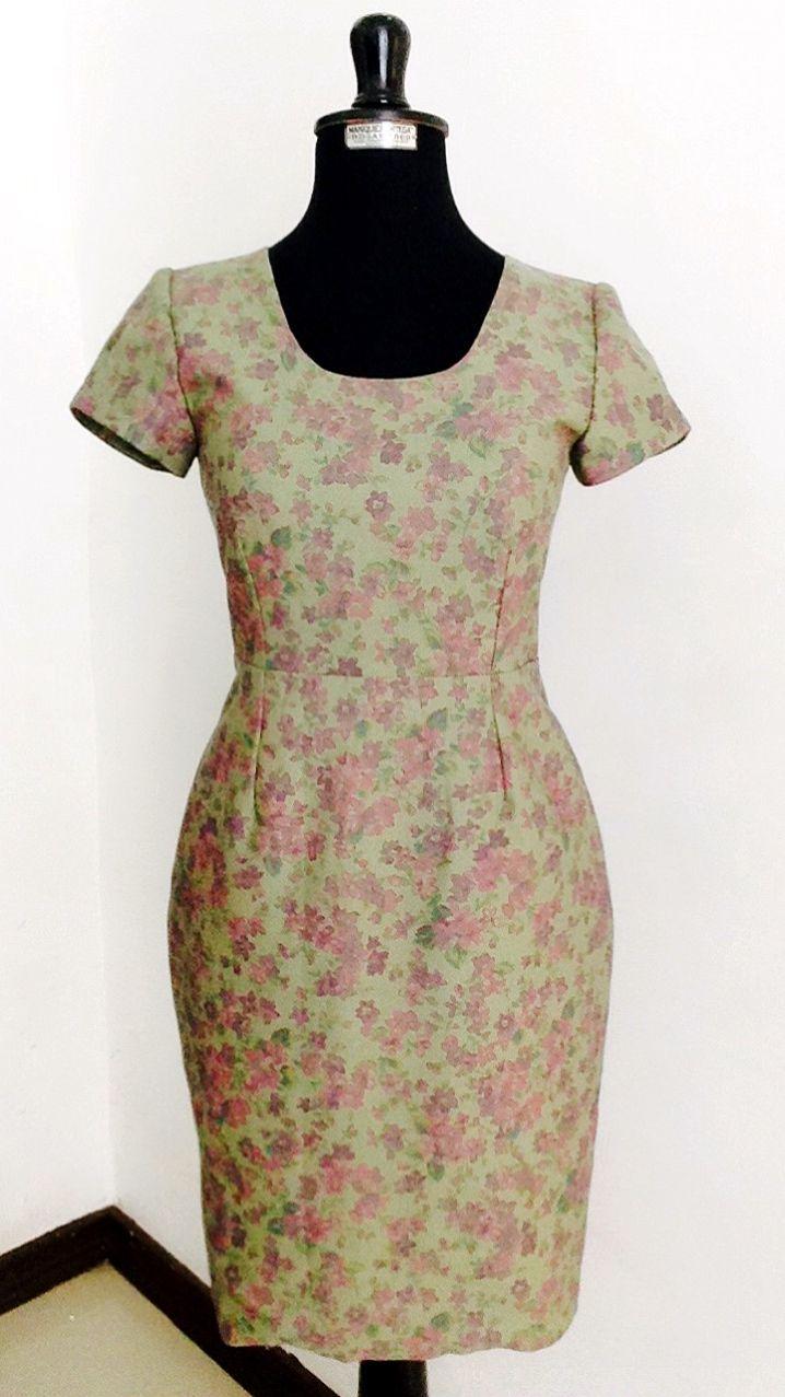 Olive pencil dress modest lds