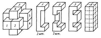 Рис. 1 Простейший вариант головоломки чёртов куб