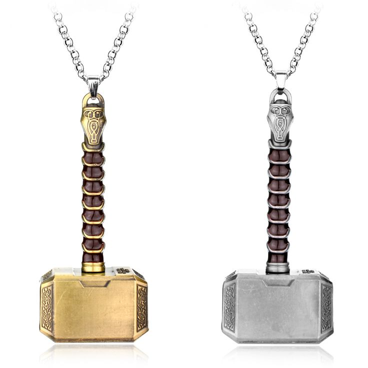 HEYu Fashion Movies Thor Hammer Necklace Marvel Avengers Dark World Necklace Classic Movies Exquisite Mjolnir Pendant Necklace