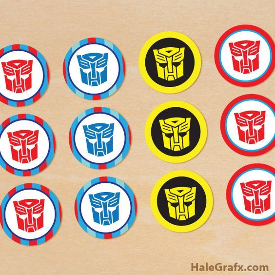 FREE Printable Transformers Cupcake Toppers: