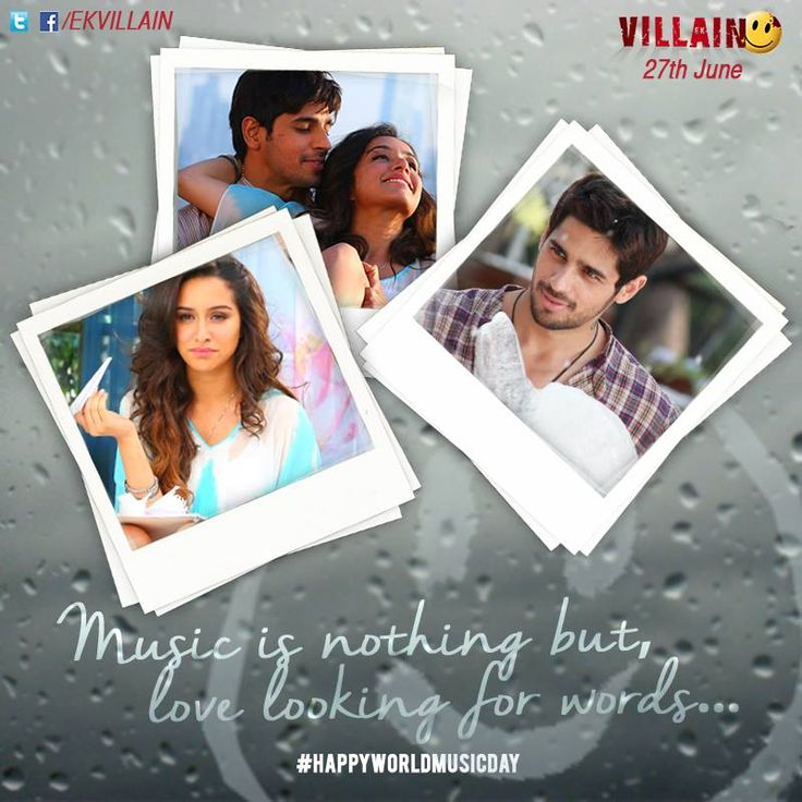 Music is nothing but, love looking for words... #EkVillain