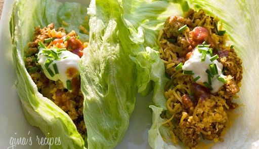 Wraps/ Taco's Van Ijsbergsla Met Kalkoengehakt(rund) Op Mex recept   Smulweb.nl