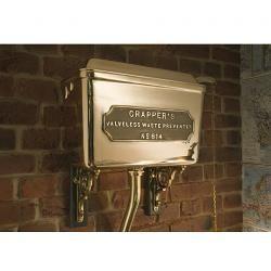 High Level Polished Brass Cistern