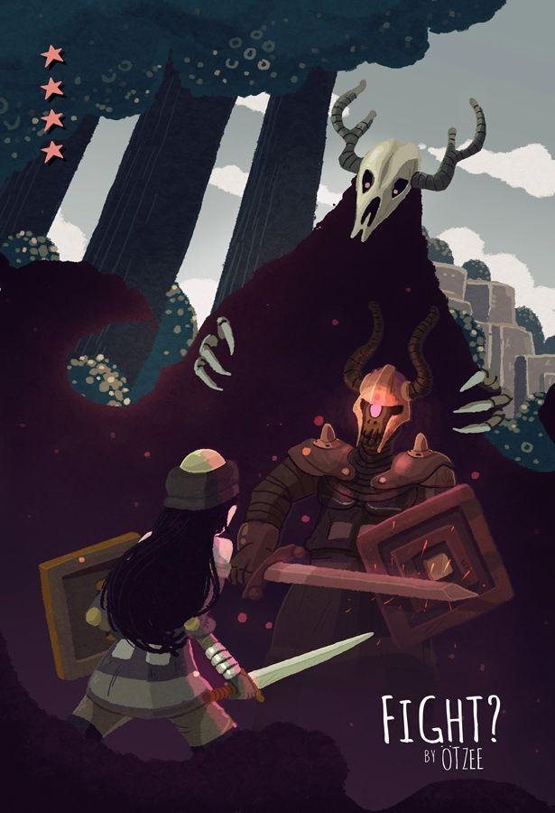 Fight?: Character Art, Fan Art, Sworcery Fan, Games Gif, Fantasy Art, Fantasy Epic Artwork, Video Games, Game Art