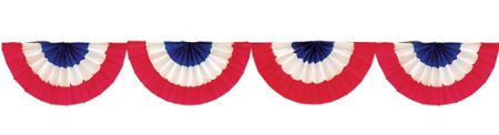 Crepe Paper American Flag Bunting Garland 9in x 9ft Paper Decoration SKU:10859 $3.99 - Party City