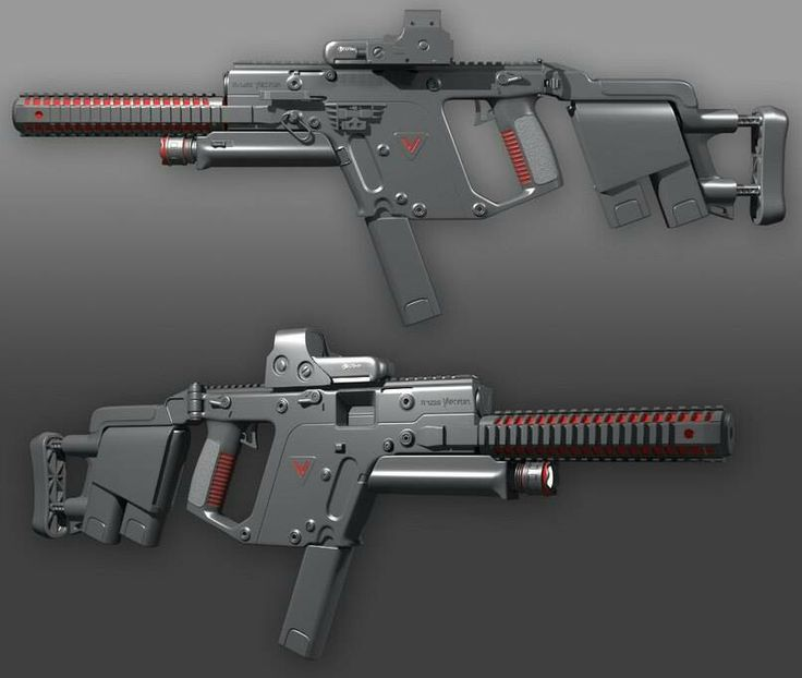 Kriss Vector: always found this gun to be very skeletal looking. But still bad ass.
