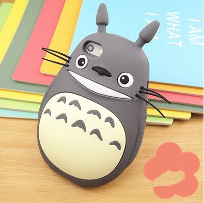LOVECOM 2 Color New Hot Sale Catoon Totoro Cat Soft Silicon Phone Back Cover Phone Case For Iphone 4 4S YC060