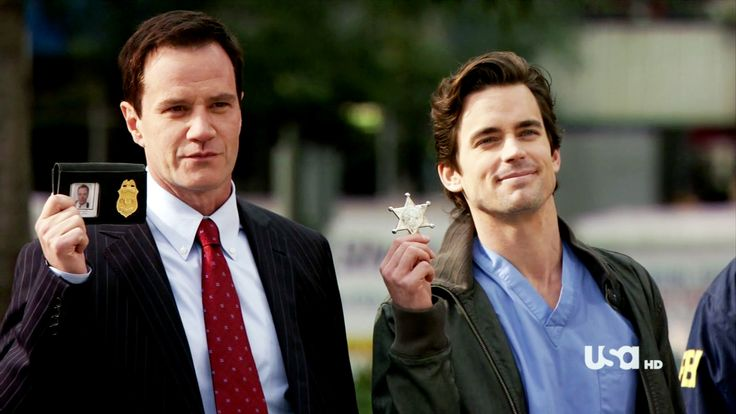 neal and peter white collar. Neal looks so proud of himself with his sheriff badge haha