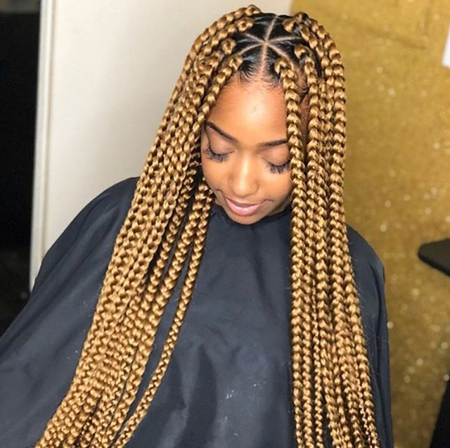 Pin By Bluee On Hairstyles Blonde Box Braids Box Braids