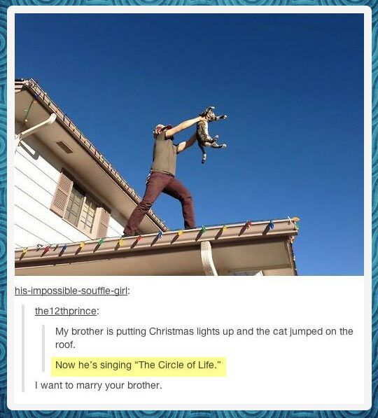 """""""Everything the Christmas lights touches, is our kingdom…"""" <--- that comment!"""