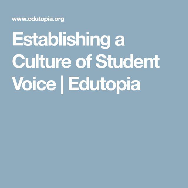 Establishing a Culture of Student Voice | Edutopia
