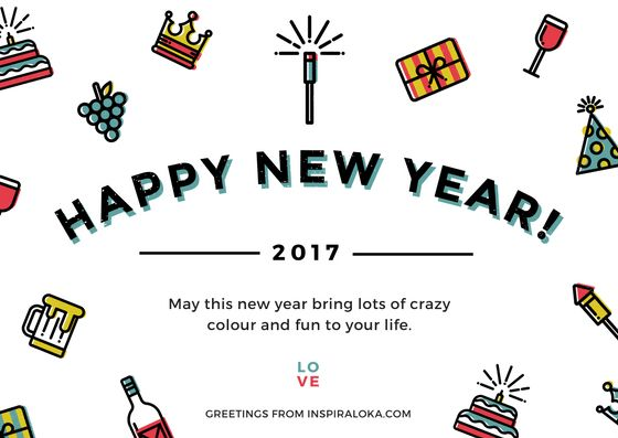 Happy new year 2017! May this year bring lots of crazy colour and fun to your life.