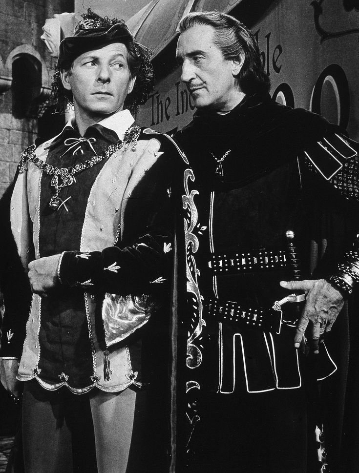 """The Court Jester - Danny Kaye and Basil Rathbone. """"The pellet with the poison's in the vessel with the pestle; the chalice from the palace has the brew that is true!"""""""