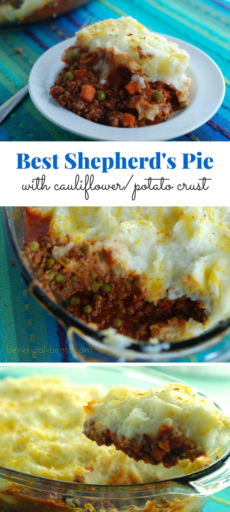 Shepherd's Pie lightened up with cottage cheese and cauliflower - my ...