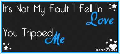 You tripped me! ;)