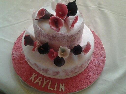 Chocolate and red velvet birthday cake