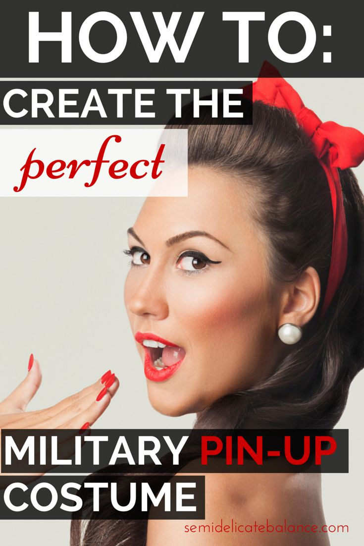 How to Create the Perfect Military Pin-up Costume, Halloween ideas