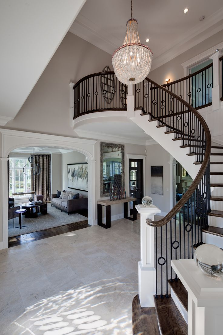 I hope to one day be rich enough to have a beautiful chandelier and a winding staircase