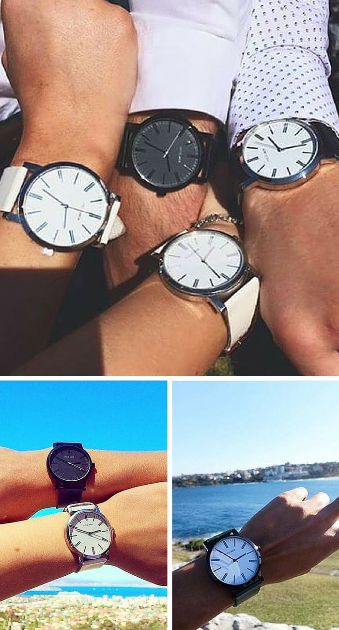 Start before you're ready! Uncle Jack Unisex watch with minimalist design