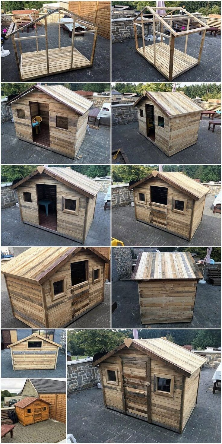 DIY Palette Tiny House or Cabin Step by Step Plan #WoodWorking