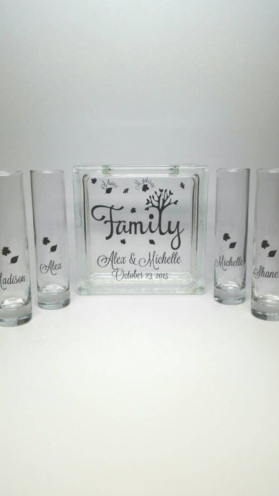 Blended Family Sand Set  Unity Candle by TheDreamWeddingShop