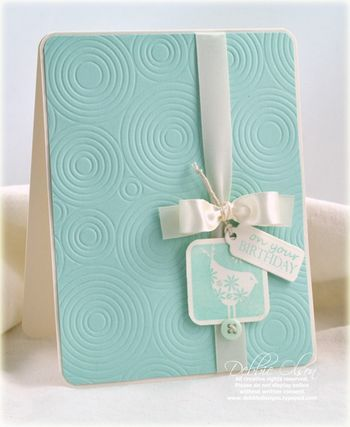 Just embossing & ribbon! {love}