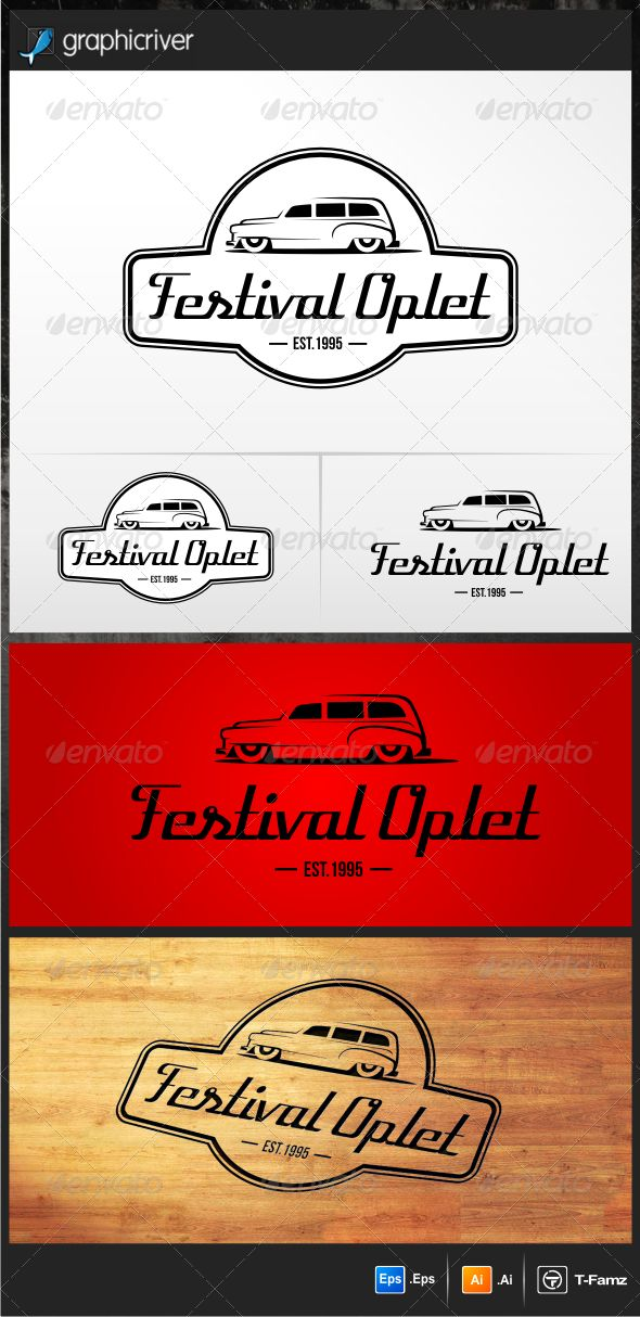Festival Oplet Logo Templates — Vector EPS #automotive logo #simple • Available here → https://graphicriver.net/item/festival-oplet-logo-templates/5172866?ref=pxcr