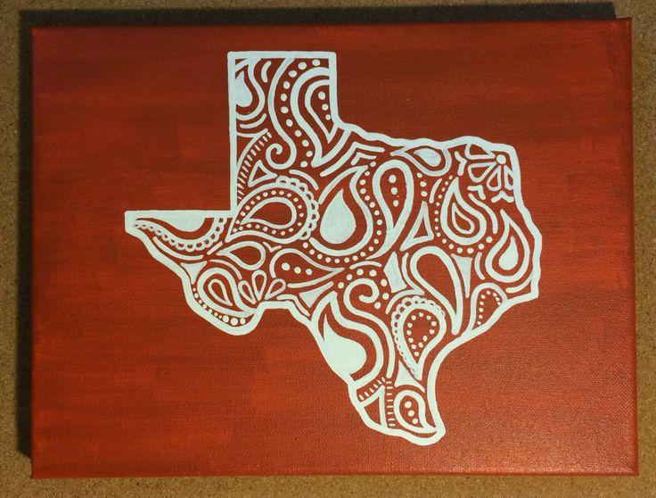 Burnt Orange Texas Canvas