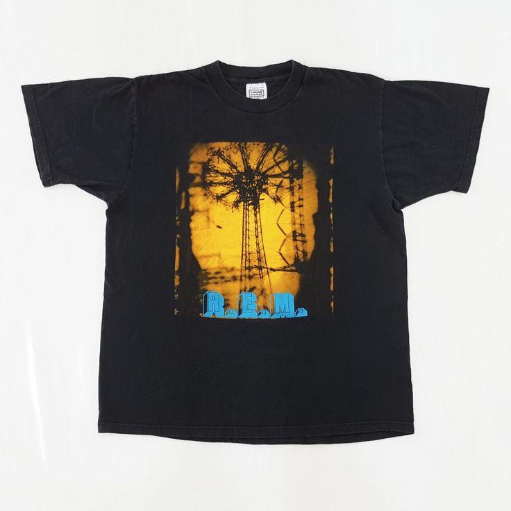 Vintage R.E.M. 1995 Tour T-Shirt for sale!    http://www.ebay.com/itm/Vtg-90s-R-E-M-1995-Monster-Tour-Promo-T-Shirt-Alternative-Grunge-Rock-REM-Stipe-/152662798842  #Vintage #90s #REM #Monster #Concert #Tour #Promo #T #Shirt #Alternative #Grunge #Rock #MichaelStipe #Pixies #TheSmashingPumpkins #PearlJam #Black #Large #NiceMan #Nirvana #KurtCobain #FooFighters