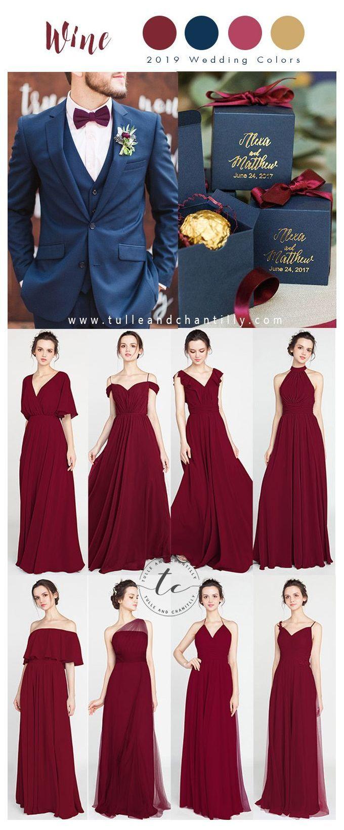Wine Color Dress For Wedding Long Short Bridesmaid Dresses 80 149 Si Wine Bridesmaid Dresses Wine Color Bridesmaid Dress Christmas Bridesmaid Dresses