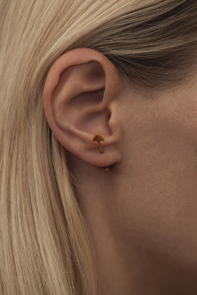ROBIN PLAIN · EAR STUD · GOLD PLATED