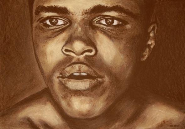 12 rounds serie - round 1: Cassius Clay ( Muhammad Ali ): 1Cassius Clay, 1 Cassius Clay, 12 Round, Round 1 Cassius, Products, Round 1Cassius, Clay Art, Round Series