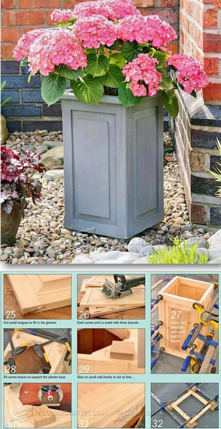 Garden Planter Plans - Outdoor Plans and Projects | WoodArchivist.com
