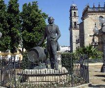 Monumento de Tio Pepe. Jerez de la Frontera, Cádiz.