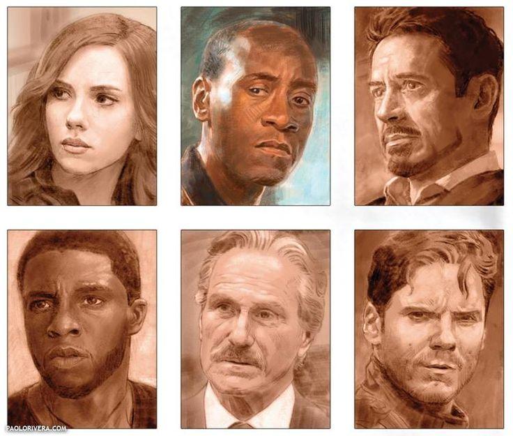 Capitão América: Guerra Civil - Liberado pôster incrível com elenco completo! - Legião dos Heróis