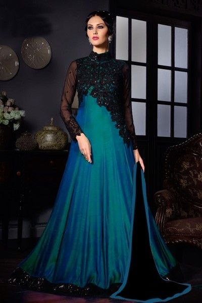 Buy designer blue deigner anarkali salwar suits online shopping with lowest prices in india. #thankaronline #salwarsuits #gown #anarkalis #dress # wedding #festival #anarkalisalwarkameez # designergown # designersalwarsuits