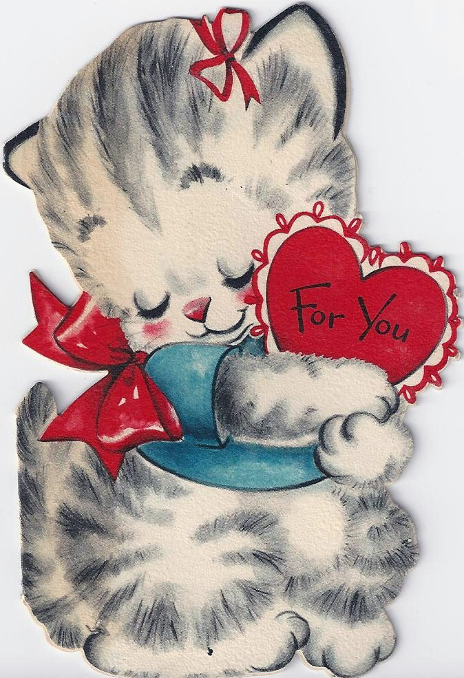 Открытки про любовь для котенка, день военно