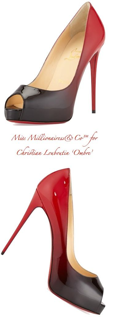 Christian Louboutin \u0026#39;Ombre\u0026#39; Peep-Toe Pump - Just In for 2015 ...