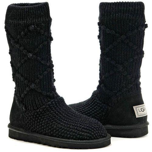 UGG Boots Classic Argyle Knit Black